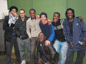 From to left to right, Miles James, Jay Phelps, Nathaniel Facey, Oren, Annor Asamoah(squatting) Afla Sackey, Yaw Asumadu